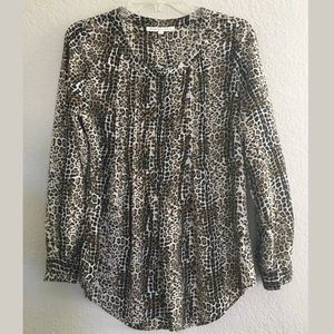 Daniel Rainn Small Leopard Tunic Blouse Stitch Fix